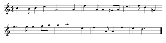 The sketch of Alicia and Julio's Theme.